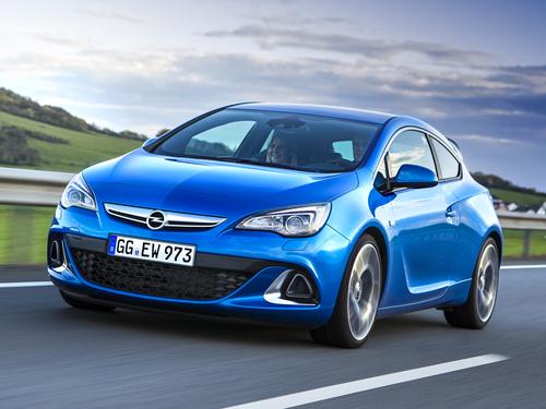 Фото автомобиля Opel Astra J [рестайлинг], ракурс: 45 цвет: голубой