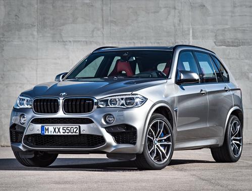Фото автомобиля BMW X5 M F85, ракурс: 45 цвет: серебряный