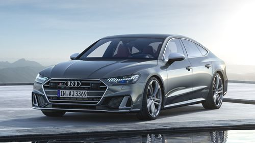 Фото автомобиля Audi S7 2 поколение, ракурс: 45 цвет: серый