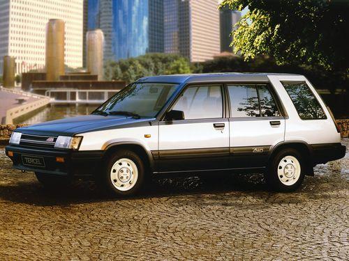 Фото автомобиля Toyota Tercel L20, ракурс: 45 цвет: серый