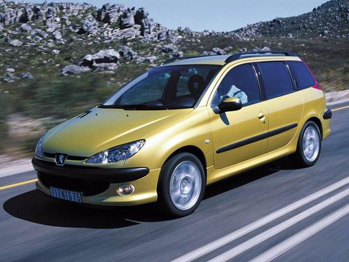 Фото автомобиля Peugeot 206 1 поколение [рестайлинг], ракурс: 45 цвет: сафари