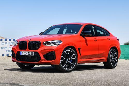Фото автомобиля BMW X4 M F98, ракурс: 45 цвет: красный