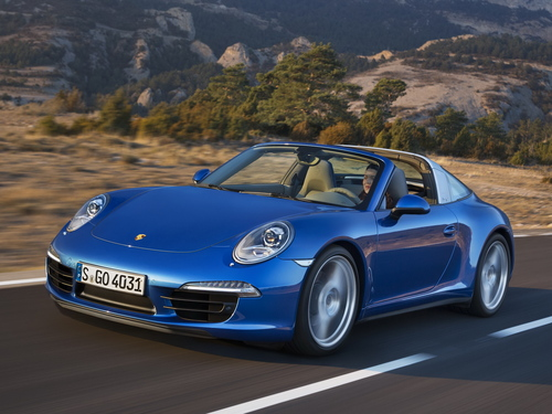 Фото автомобиля Porsche 911 991, ракурс: 45 цвет: синий