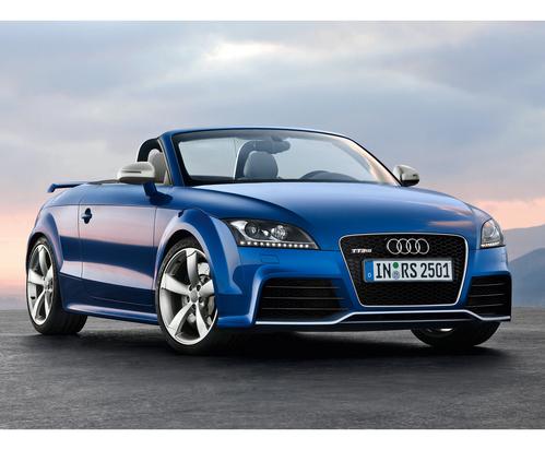 Фото автомобиля Audi TT 8J [рестайлинг], ракурс: 45 цвет: голубой