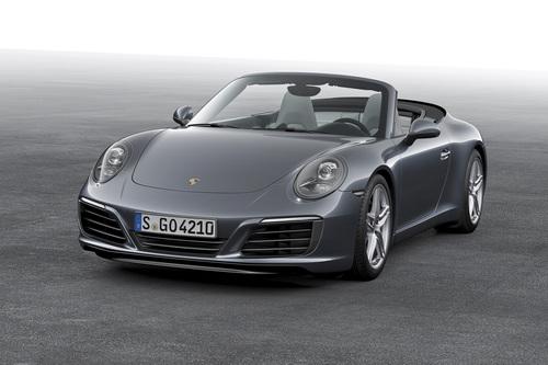Фото автомобиля Porsche 911 991 [рестайлинг], ракурс: 45 цвет: мокрый асфальт