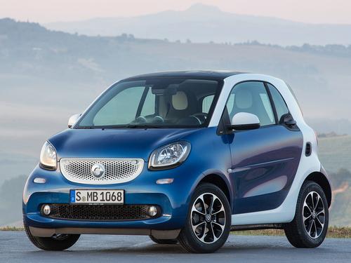 Фото автомобиля Smart Fortwo 3 поколение, ракурс: 45 цвет: синий