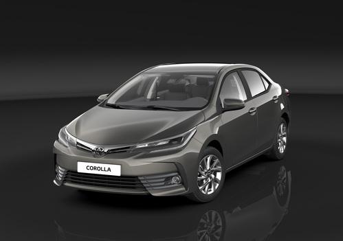 Фото автомобиля Toyota Corolla E170 [рестайлинг], ракурс: 45 цвет: серый