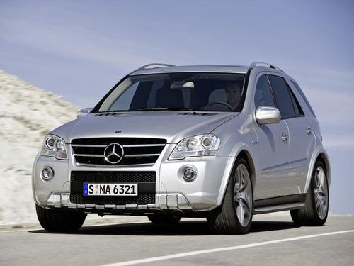 Фото автомобиля Mercedes-Benz M-Класс W164 [рестайлинг], ракурс: 45 цвет: серебряный