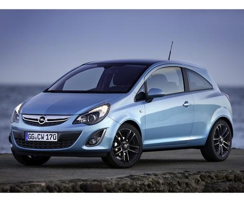 Фото автомобиля Opel Corsa D [рестайлинг], ракурс: 45 цвет: голубой