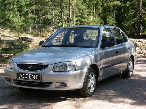 Фото автомобиля Hyundai Accent LC, ракурс: 45 цвет: серебряный