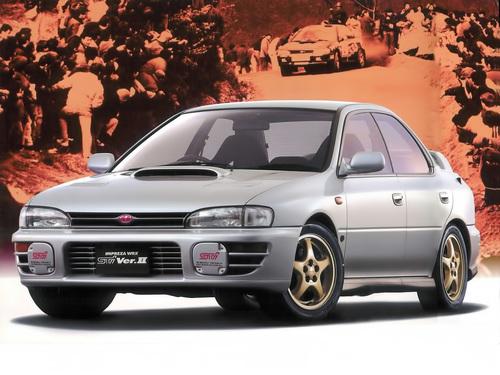 Фото автомобиля Subaru Impreza 1 поколение, ракурс: 45 цвет: серебряный