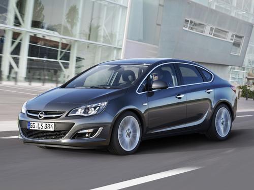 Фото автомобиля Opel Astra J [рестайлинг], ракурс: 45 цвет: серый