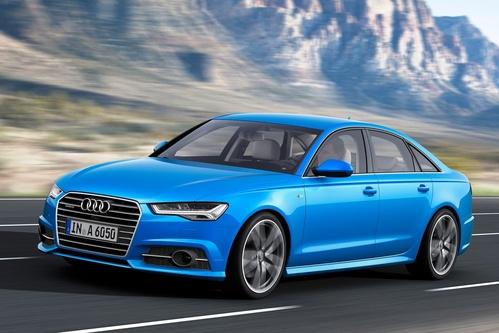 Фото автомобиля Audi A6 4G/C7 [рестайлинг], ракурс: 45 цвет: голубой