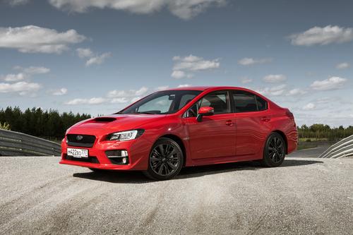Фото автомобиля Subaru Impreza 4 поколение [рестайлинг], ракурс: 45 цвет: красный