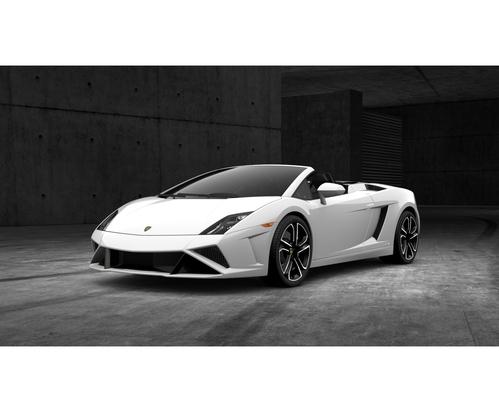 Фото автомобиля Lamborghini Gallardo 1 поколение [рестайлинг], ракурс: 45 цвет: белый