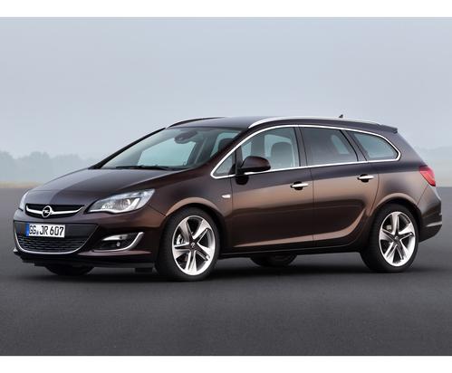 Фото автомобиля Opel Astra J [рестайлинг], ракурс: 45 цвет: коричневый