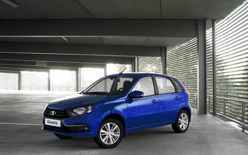 Фото автомобиля ВАЗ (Lada) Granta 1 поколение [рестайлинг], ракурс: 45 цвет: голубой