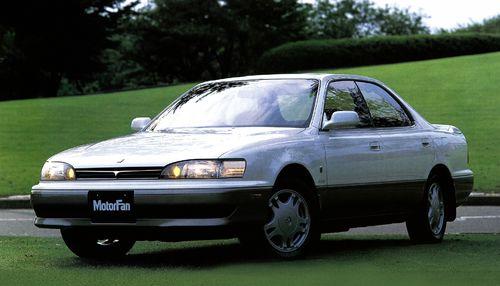 Фото автомобиля Toyota Camry V30, ракурс: 45 цвет: белый