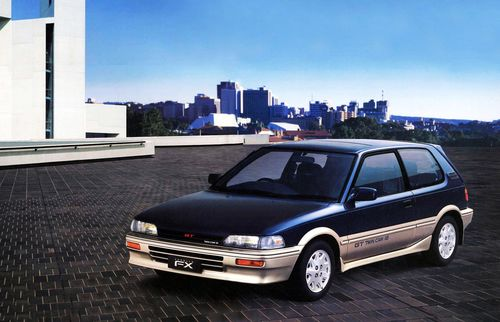 Фото автомобиля Toyota Corolla E90, ракурс: 45 цвет: синий