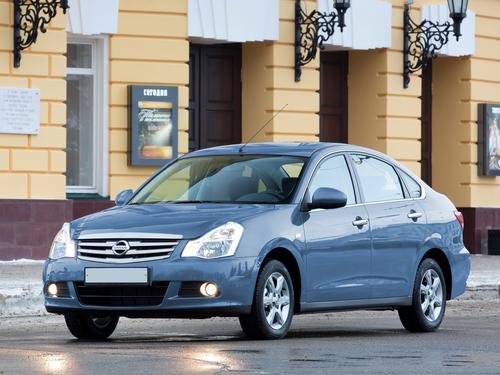 Фото автомобиля Nissan Almera G11, ракурс: 45 цвет: голубой