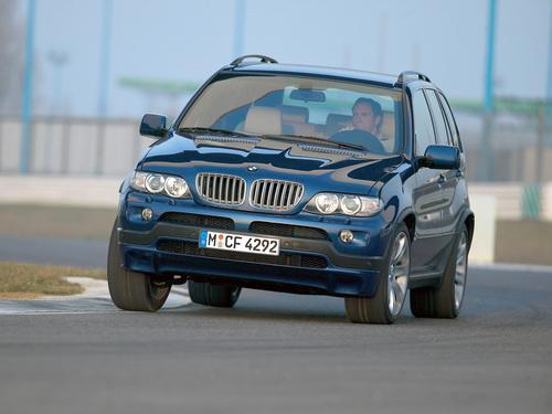 Фото автомобиля BMW X5 E53 [рестайлинг], ракурс: 45 цвет: синий