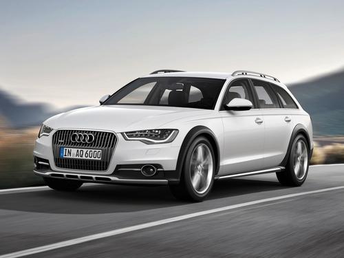 Фото автомобиля Audi A6 4G/C7, ракурс: 45 цвет: белый