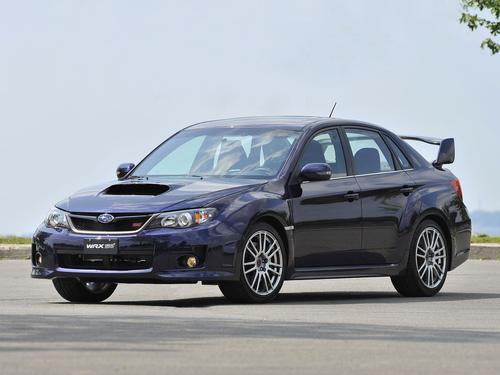 Фото автомобиля Subaru Impreza 3 поколение [рестайлинг], ракурс: 45 цвет: синий
