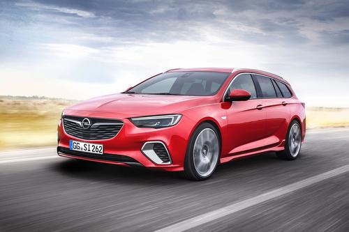 Фото автомобиля Opel Insignia B, ракурс: 45 цвет: красный