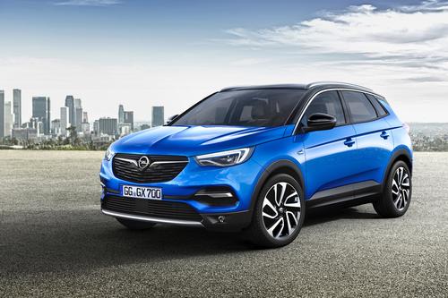 Фото автомобиля Opel Grandland X 1 поколение, ракурс: 45 цвет: синий