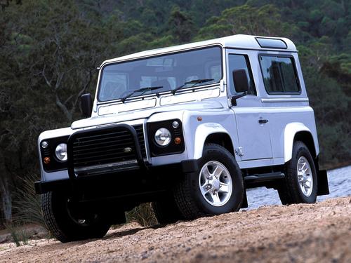 Фото автомобиля Land Rover Defender 1 поколение, ракурс: 45 цвет: серебряный