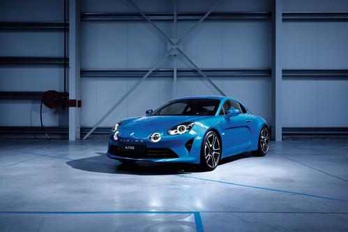 Фото автомобиля Alpine A110 2 поколение, ракурс: 45 цвет: голубой