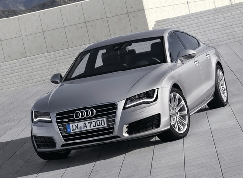 Фото автомобиля Audi A7 4G, ракурс: 45 цвет: серый