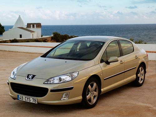 Фото автомобиля Peugeot 407 1 поколение, ракурс: 45 цвет: бежевый