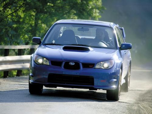 Фото автомобиля Subaru Impreza 2 поколение [2-й рестайлинг], ракурс: 45 цвет: синий