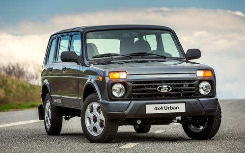 Фото автомобиля ВАЗ (Lada) 4x4 1 поколение [2-й рестайлинг], ракурс: 315 цвет: серый