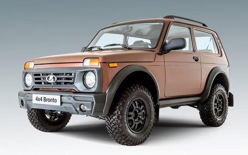 Фото автомобиля ВАЗ (Lada) 4x4 1 поколение [2-й рестайлинг], ракурс: 45 цвет: бронзовый
