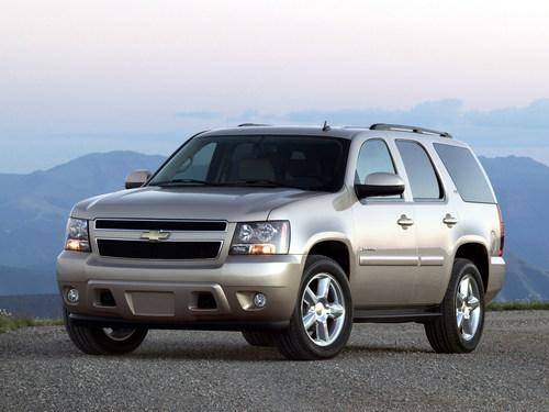 Фото автомобиля Chevrolet Tahoe GMT900, ракурс: 45 цвет: серый