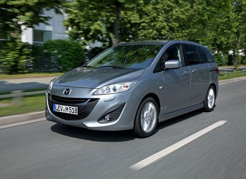 Фото автомобиля Mazda 5 CW, ракурс: 45 цвет: серебряный