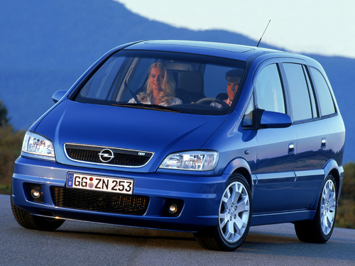 Фото автомобиля Opel Zafira A, ракурс: 45