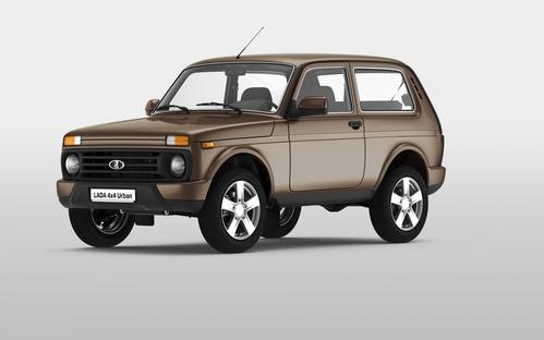 Фото автомобиля ВАЗ (Lada) 4x4 1 поколение [2-й рестайлинг], ракурс: 45 цвет: коричневый