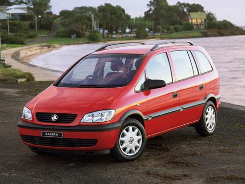 Фото автомобиля Holden Zafira B, ракурс: 45