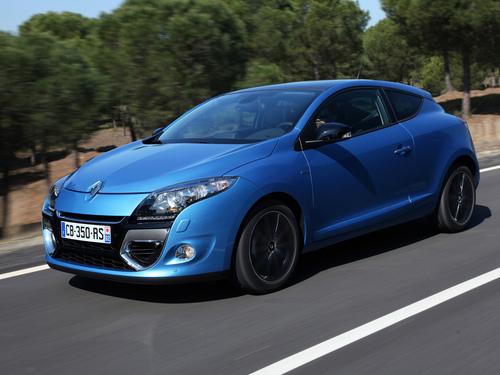 Фото автомобиля Renault Megane 3 поколение [рестайлинг], ракурс: 45 цвет: синий