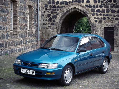 Фото автомобиля Toyota Corolla E100, ракурс: 45 цвет: аквамарин