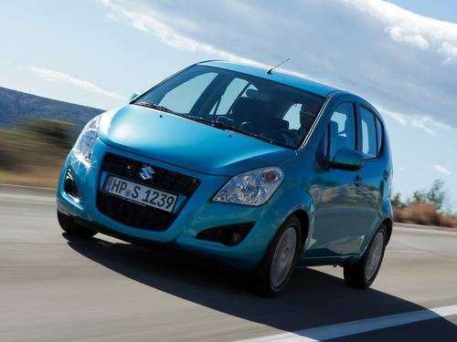 Фото автомобиля Suzuki Splash 1 поколение [рестайлинг], ракурс: 45 цвет: голубой