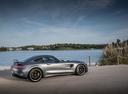 Фото авто Mercedes-Benz AMG GT C190 [рестайлинг], ракурс: 270 цвет: серый