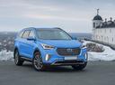 Фото авто Hyundai Santa Fe DM [рестайлинг], ракурс: 315 цвет: голубой