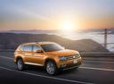 Фото авто Volkswagen Teramont 1 поколение, ракурс: 315 цвет: оранжевый