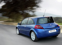 Фото авто Renault Megane 2 поколение [рестайлинг], ракурс: 135 цвет: синий