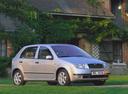 Фото авто Skoda Fabia 6Y, ракурс: 315 цвет: серебряный