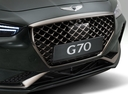 Фото авто Genesis G70 1 поколение, ракурс: передняя часть цвет: мокрый асфальт